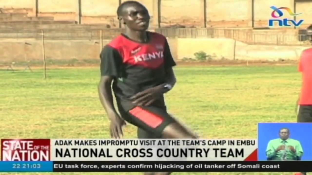 National cross country: ADAK makes impromptu visit at the team's camp in Embu