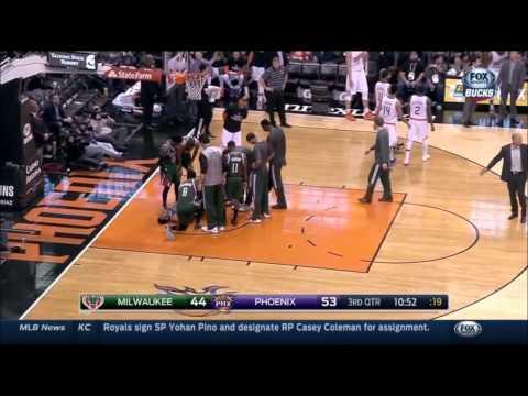 Jabari Parker injured against Phoenix (12-15-14)