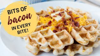 Cheddar and Bacon Waffles...