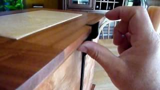 Wooden Urn Box Latch Mechanism