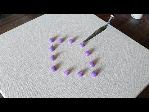 Lavender / Easy Floral Abstract Painting Demo / For beginners/Satisfying/Daily Art Therapy/Day #0208
