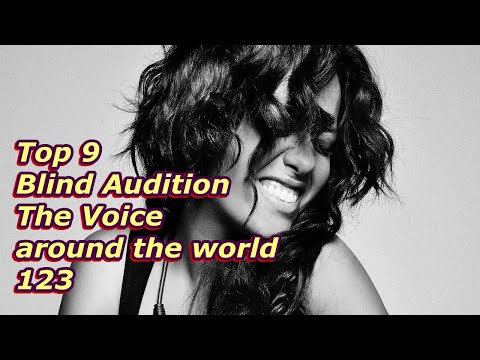 Top 9 Blind Audition (The Voice Around The World 123)
