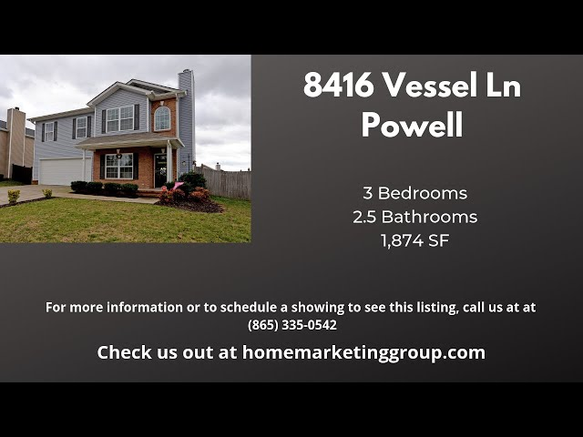 8416 Vessel Ln, Powell TN | Adorable Move-In Ready 2-Story Home