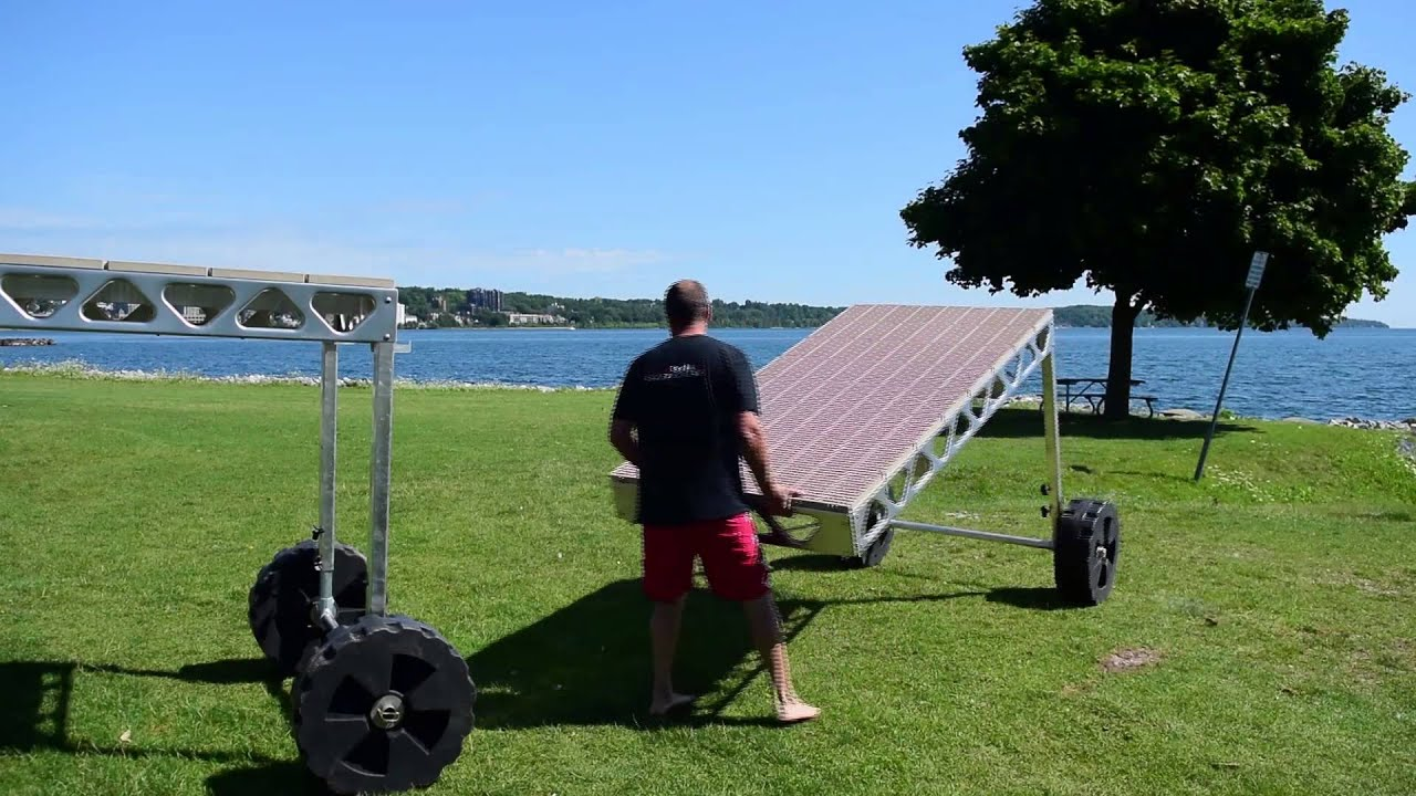 Canadadocks standing dock wheel kit youtube solutioingenieria Gallery