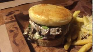 Классический бургер с картофелем фри