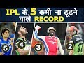 5 IPL Records that may never be broken  All Time Records