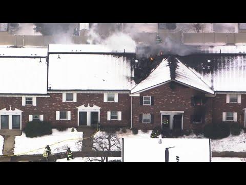 RAW VIDEO: Firefighters Fight Blaze At Framingham's Windsor Green