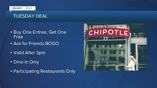 Chipotle offers BOGO deal tonight