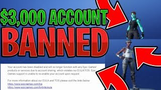 So Epic Games Banned my RAREST Fortnite Account (Recon Expert & Ghoul Trooper) $3000