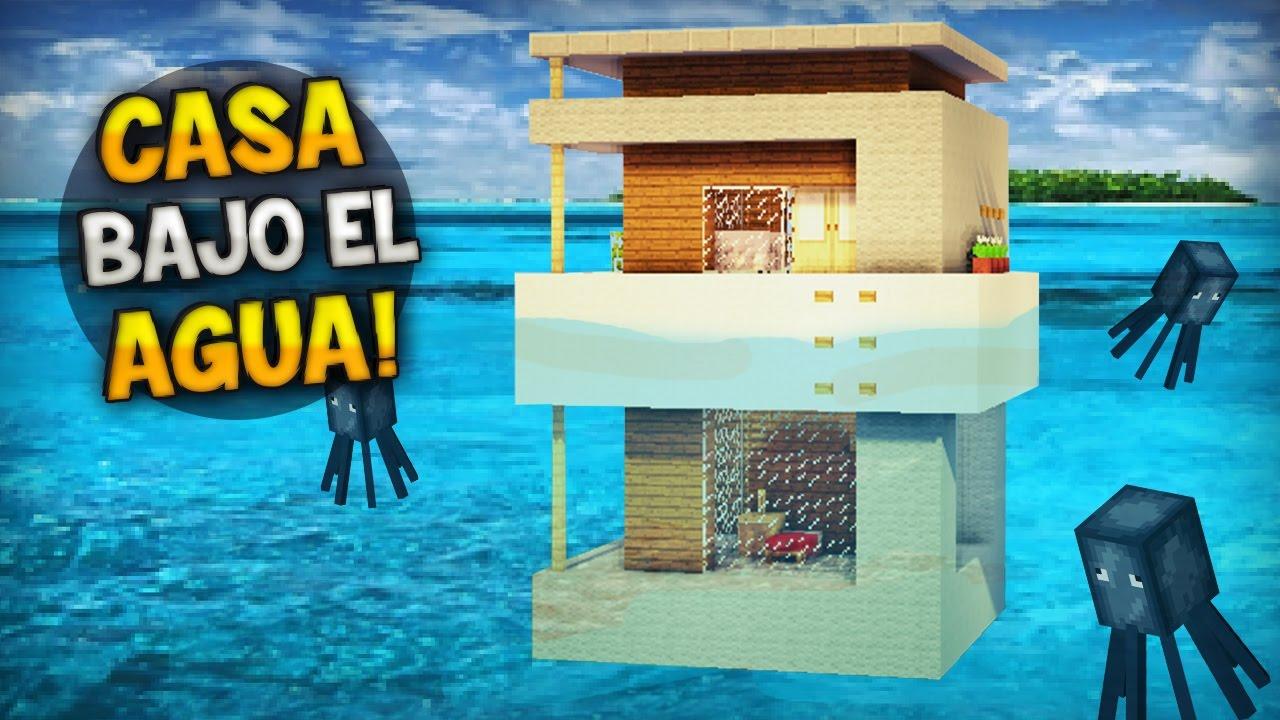 Minecraft como hacer una epica y hermosa casa bajo el - Como crear tu casa ...