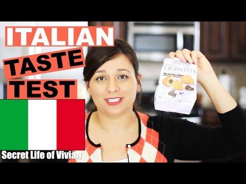 ITALIAN FOOD TASTE TEST #2 | ITALY | VIVIAN REACTS
