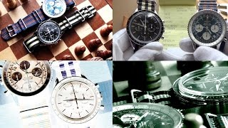 Clash Of The Iconic Luxury Chronographs  - Omega Speedmaster Vs Breitling Navitimer Watch Duel