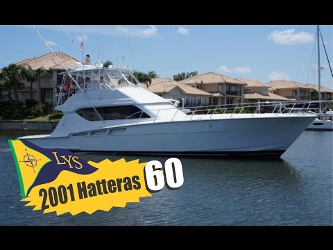 SOLD!!! 2001 Hatteras 60 Sport Fishing Yacht for sale at Little Yacht Sales