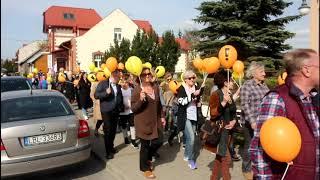Nauczyciele z Ostrowi protestowali pod Starostwem i Urzędem Miasta - 24.04.2019