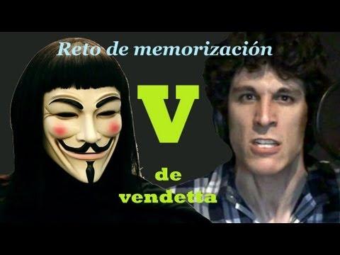 Discurso de V de vendetta (reto de memorización)