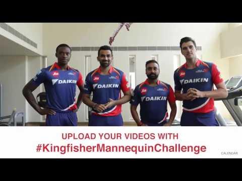 #KingfisherMannequinChallenge with the Delhi Daredevils!