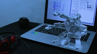 Mechanical Hand Papercraft (Pepakura Design)