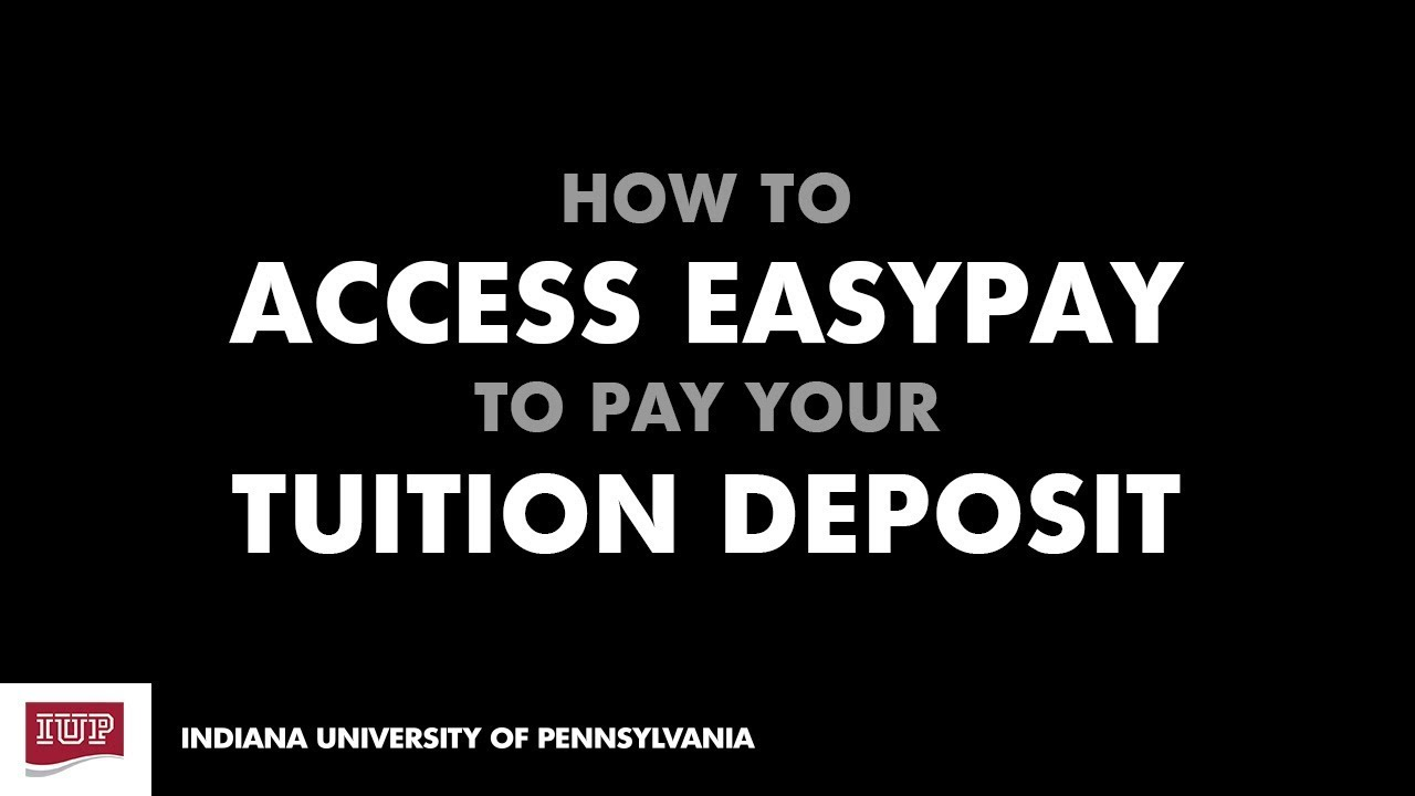 Making Your Tuition Deposit - Admitted Students - How to