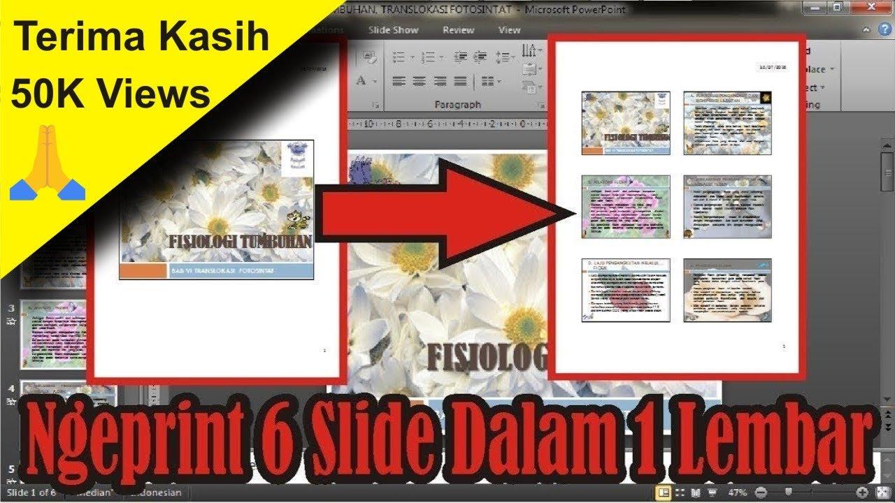 Cara Print 1 Gambar Menjadi 4 Bagian Di Word - Tempat ...