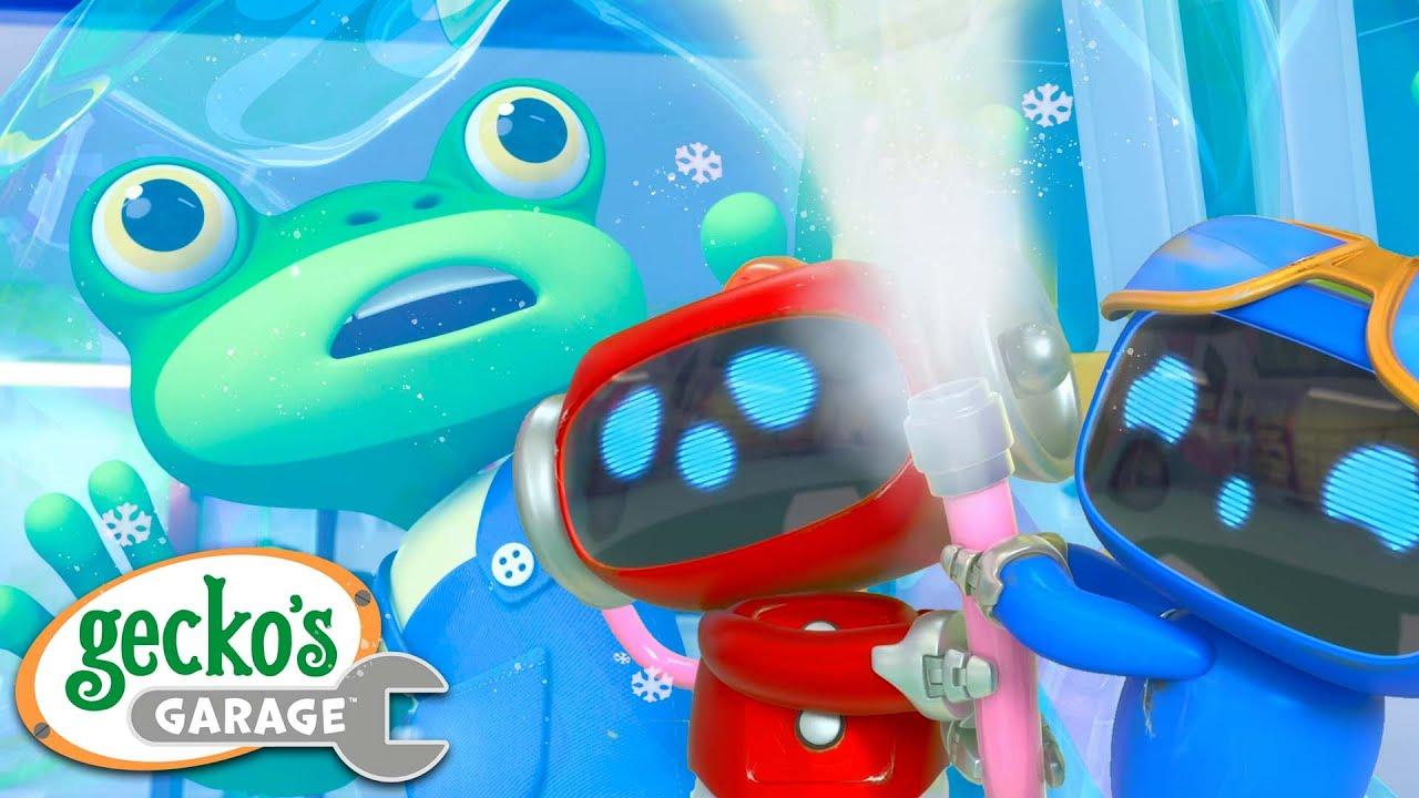 The Mechanicals Freeze Gecko!   Gecko's Garage   Trucks For Children   Cartoons For Kids  