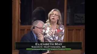 "Elizabeth May introduces ""Think Small First"" Private Members Bill for First Reading - May 28, 2015"
