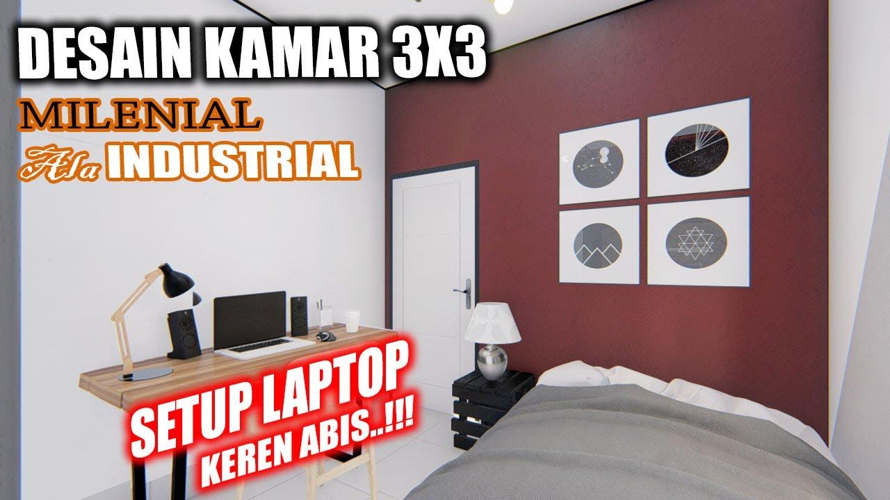 Desain Kamar 3x3 Konsep Industrial Cocok Untuk Anak Kuliahan Youtube