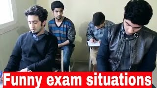 This video is all about the funny situation in exam halll and we compare them to bolywood songs.