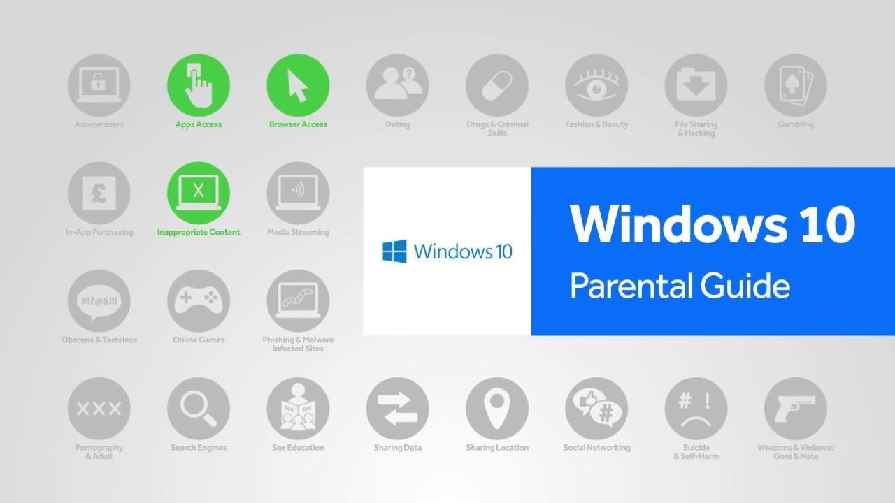 comment activer le control parental windows 10