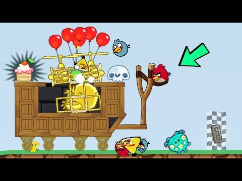 Thumbnail: Bad Piggies - PIGGY MIGHTY EAGLE VS ANGRY BIRDS 5700+ SCRAPS