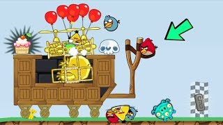 Bad Piggies - PIGGY MIGHTY EAGLE VS ANGRY BIRDS 5700+ SCRAPS