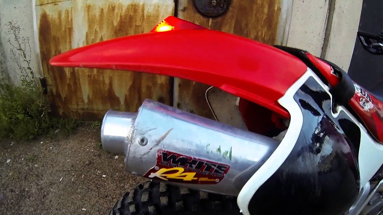 Honda Xr650 White Brothers R4 Exhaust Muffler Sound