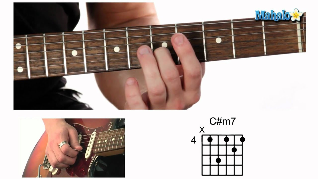 How To Play A C Sharp Minor Seven Cm7 Chord On Guitar Youtube