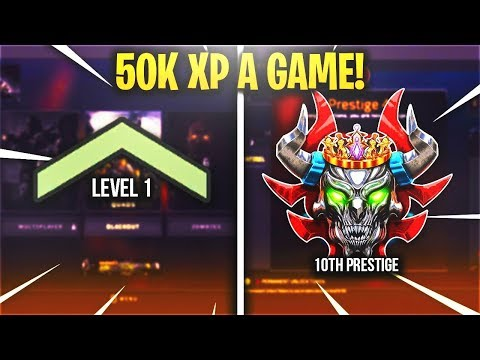 GET 50,000 XP a MATCH *NO* DOUBLE XP - FASTEST WAY to RANK UP COD BO4 (LEVEL UP & PRESTIGE FAST BO4)