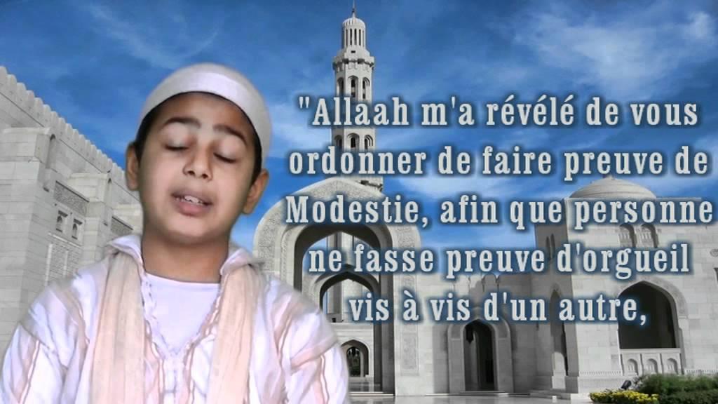 Connu Soyez Modeste et Délaissez l'Orgueil ! Rappel d'un Petit Musulman  EJ12