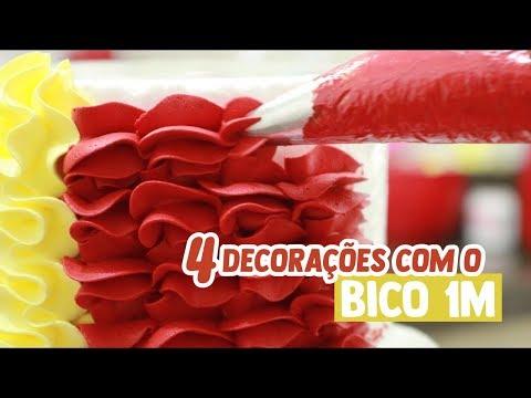 Bico 1M - Quatro decorações lindas e simples!