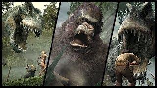 King Kong All Bosses   All V-Rex Encounters (Xbox 360) HD