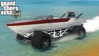 ★ GTA 5 - EPIC Boat Mobile Mod! 4x4 Off-Roading, Mudding, & Ramps Mod Showcase! (GTA V PC Mods)