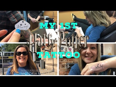MY 1st HARRY POTTER TATTOO 😱 VICTORIA MACLEAN