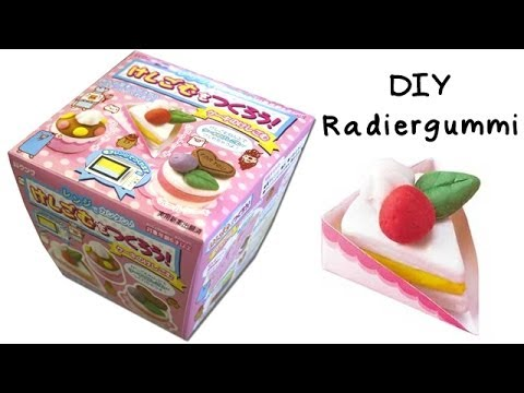 diy radiergummi selber machen kuchen anielas fimo youtube. Black Bedroom Furniture Sets. Home Design Ideas