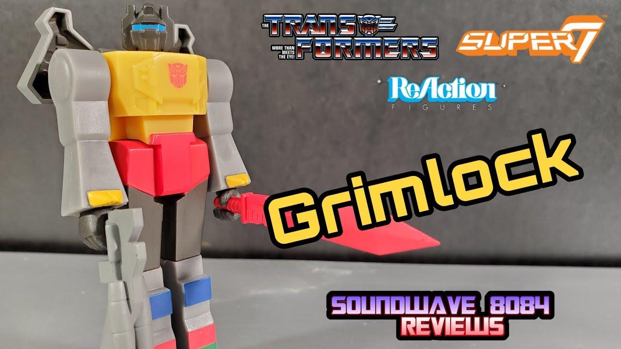 Super7 Transformers Grimlock ReAction Figure Review by Soundwave 8084