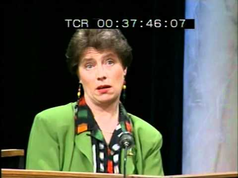 Late Late Show 1992 Abortion Referendum Special - Prof. Patricia Casey takes the stand.