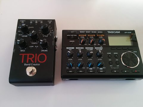 Making a song using the DIGITECH TRIO band creator and recording to the TASCAM DP-006