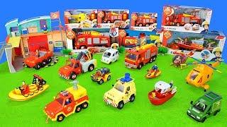 All Fireman Sam Fire Trucks: Unboxing Toys For Kids | Firefighter & Rescue Station Set Fire Engine
