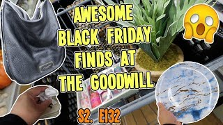TREASURE HUNTING AT THE GOODWILL ON BLACK FRIDAY | GOODWILL HUNTING S2. E132