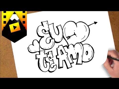 Como Desenhar Eu Te Amo Youtube