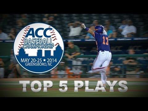 Top 5 Plays   2014 ACC Baseball Championship