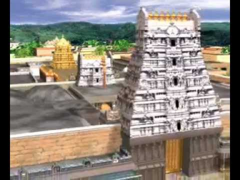 3D View of Tirumala Tirupati Temple