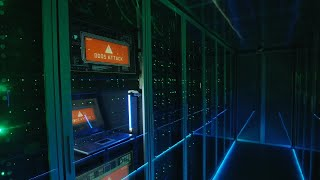 Hacked Login In Data Center Stock Video