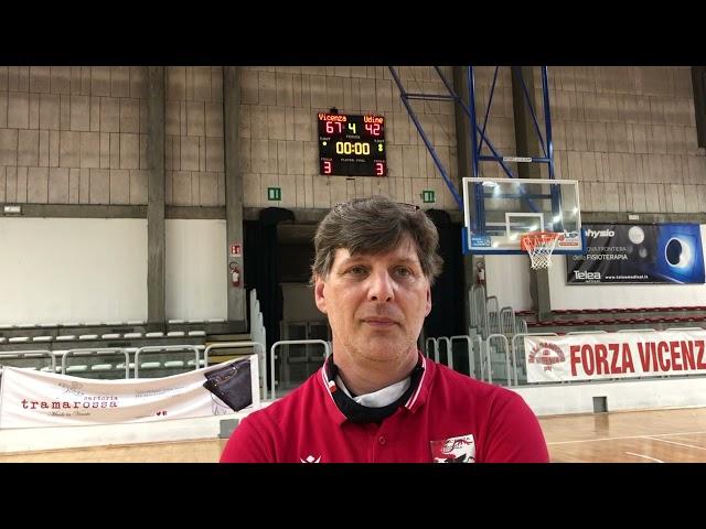 Basket A2 - Sandro Sinigaglia (As Vicenza) dopo la vittoria in Gara 1