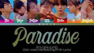 BTS (방탄소년단) – Paradise (낙원) (Color Coded Lyrics/Han/Rom/Eng/Pt-Br)